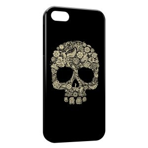 Coque iPhone 5C Flowers Skull