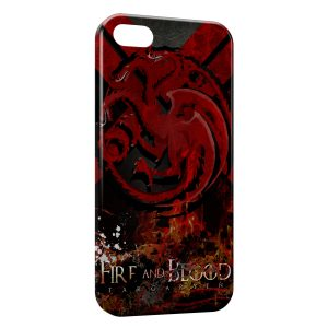 Coque iPhone 5C Game of Thrones Fire and Blood Targaryen
