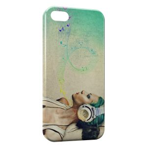 Coque iPhone 5C Girl Music 2