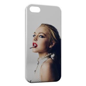 Coque iPhone 5C Girl & cigarette