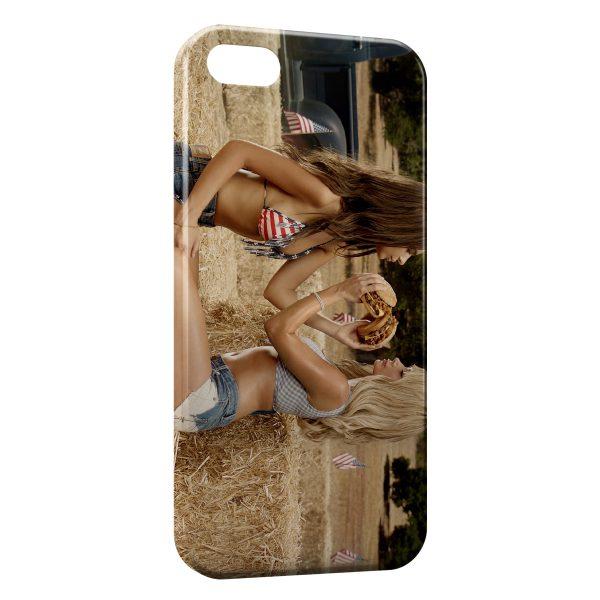 Coque iPhone 5C Girls & Burgers