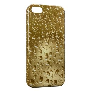 Coque iPhone 5C Gold Gouttes d'eau