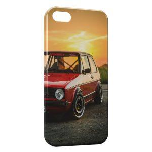 Coque iPhone 5C Golf Volkswagen GTI Rouge Vintage