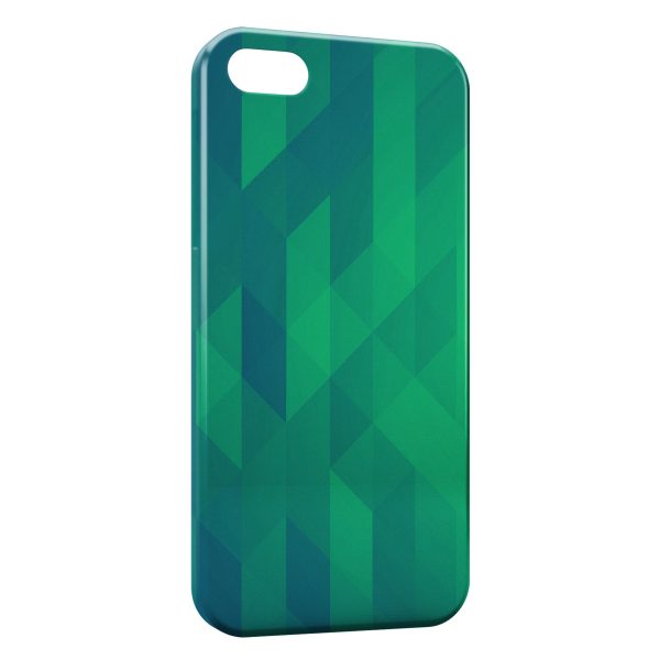 Coque iPhone 5C Green 3D Design 600x600