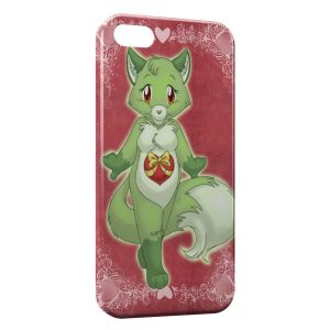 Coque iPhone 5C Green Fox Renard