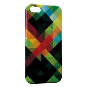 Coque iPhone 5C Green Red Black & Yellow