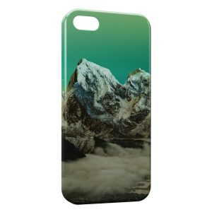 Coque iPhone 5C Green Sky & Moutain