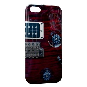 Coque iPhone 5C Guitare Pourpre Cordes