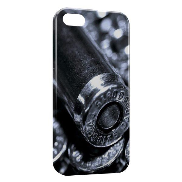 Coque iPhone 5C Gun Pistolet Balles