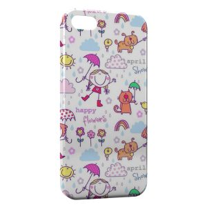 Coque iPhone 5C Happy Flowers Art