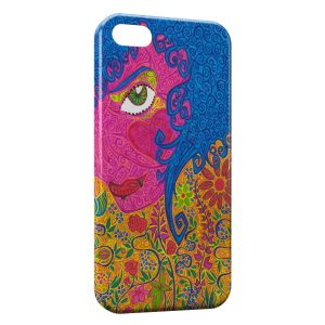 Coque iPhone 5C Hippie Flowers