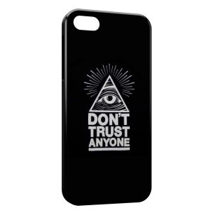 Coque iPhone 5C Illuminati Don't Trust Anyone