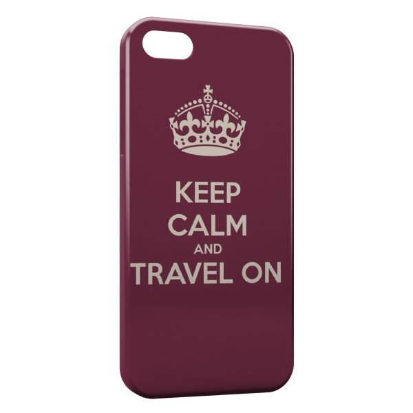 Coque iPhone 5C Keep Calm and Travel On