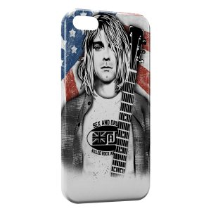 Coque iPhone 5C Kurt Cobain 2