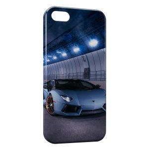 Coque iPhone 5C Lamborghini Bleue Voiture