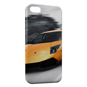 Coque iPhone 5C Lamborghini Murcielago Jaune Voiture