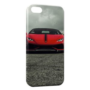 Coque iPhone 5C Lamborghini Rouge