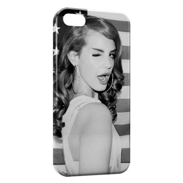 Coque iPhone 5C Lana Del Rey vintage USA