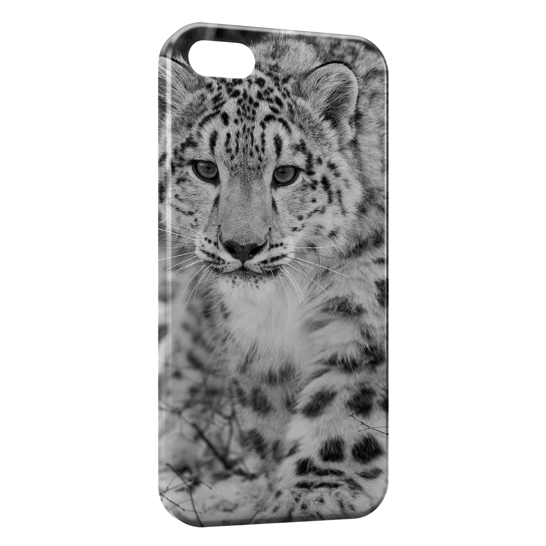 Coque iPhone 5C Leopard Noir et Blanc