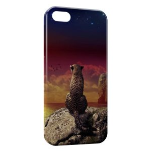 Coque iPhone 5C Leopard & Sea