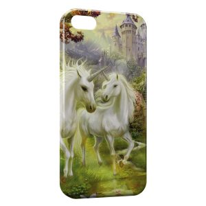 Coque iPhone 5C Licorne Paradise