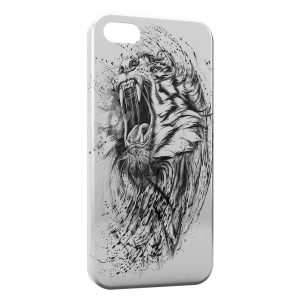 Coque iPhone 5C Lion Dessin 2