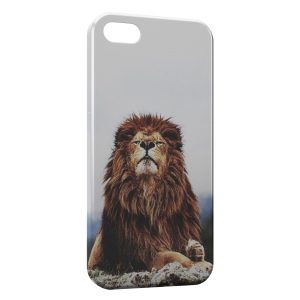 Coque iPhone 5C Lion Vintage 4