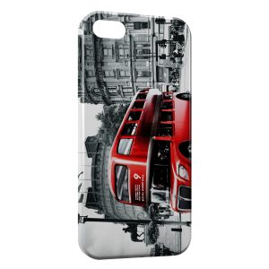 Coque iPhone 5C Londres London Bus Red Black & White 3