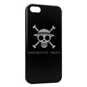 Coque iPhone 5C Manga One Piece Tete de mort Black