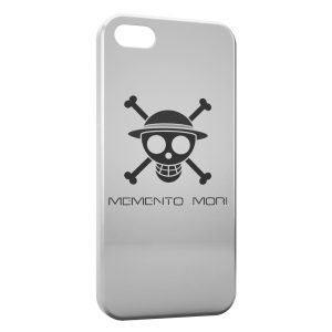 Coque iPhone 5C Manga One Piece Tete de mort White