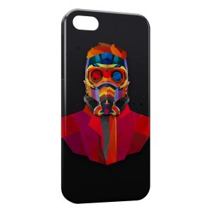 Coque iPhone 5C Masque A Gaz Multicolor Design