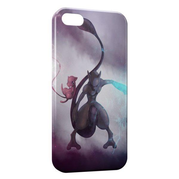 Coque iPhone 5C Mewtwo Pokemon Rare 2
