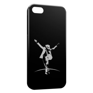 Coque iPhone 5C Mickael Jackson Black White