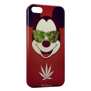 Coque iPhone 5C Mickey Cannabis Weed Lunette