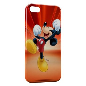 Coque iPhone 5C Mickey Happy & Jump