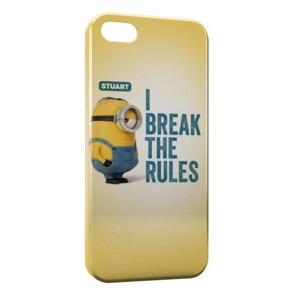 Coque iPhone 5C Minion Stuart I break the rules