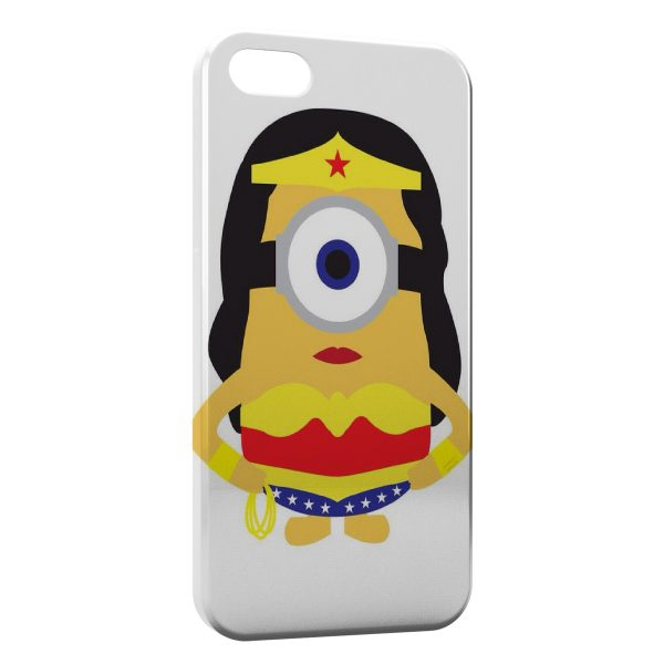 Coque iPhone 5C Minion Superwoman