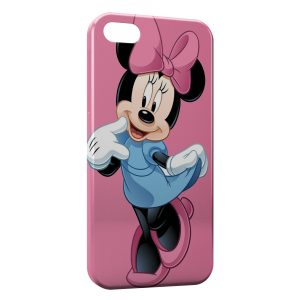 Coque iPhone 5C Minnie Punk Rose
