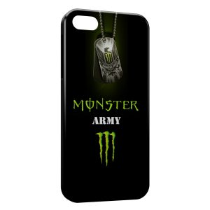 Coque iPhone 5C Monster Army Energy Logo Black