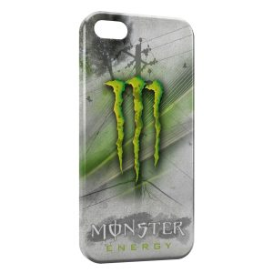 Coque iPhone 5C Monster Energy Grey & Green