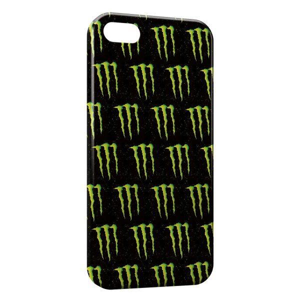 Coque iPhone 5C Monster Energy Mosaique