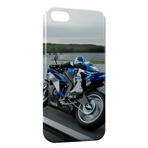 Coque iPhone 5C Moto Rider Blue 3