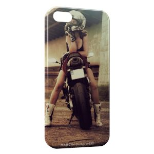 Coque iPhone 5C Moto Sexy Girl
