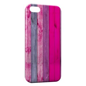 Coque iPhone 5C Mur Design Planches de bois