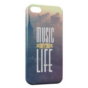 Coque iPhone 5C Music is Life 2