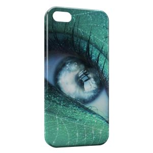 Coque iPhone 5C Oeil Vert