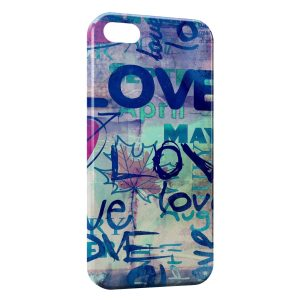 Coque iPhone 5C One love Deisgn Art Graphic