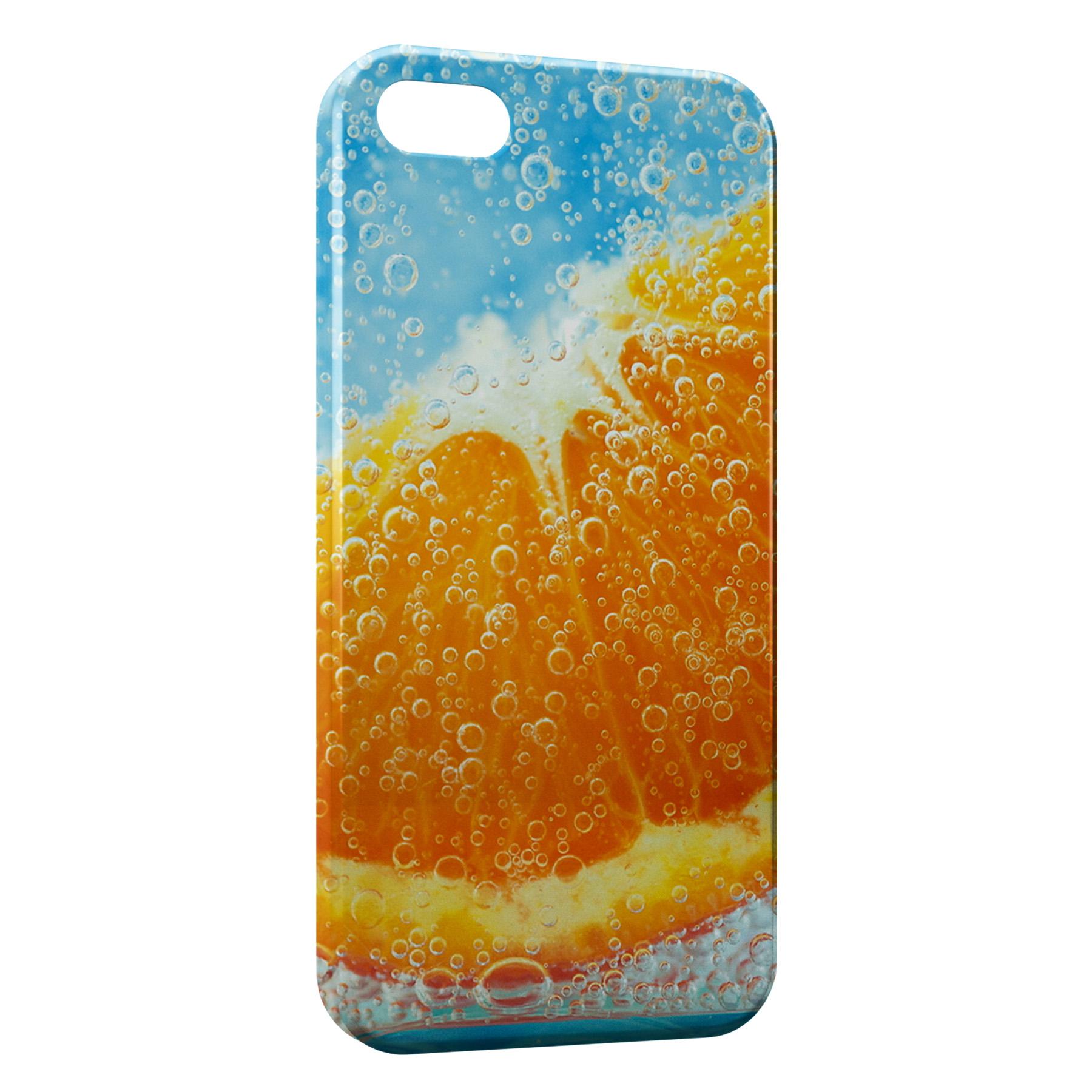Coque iPhone 5C Orange sous leau