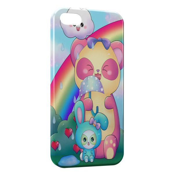 Coque iPhone 5C Ourson et lapin 600x600