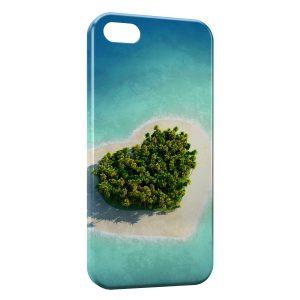 Coque iPhone 5C Paradise coeur